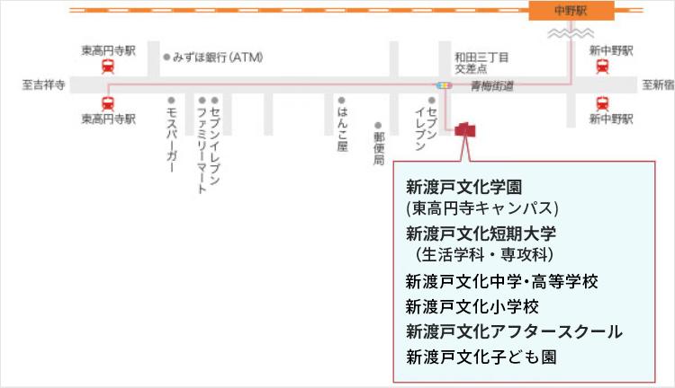 東高円寺キャンパスアクセスマップ