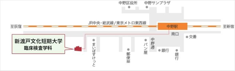 中野臨検キャンパスアクセスマップ